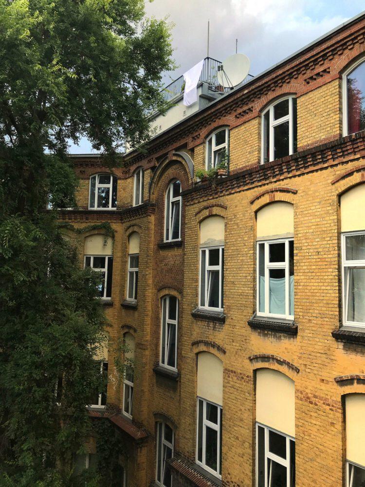 """Müller_Berlin """"Kreuzungspunkt I"""", 3 Tage, 18 Meter über der Erdoberfläche,  Dachterasse, PA58, Wohnprojekt in Selbstverwaltung, Berlin-Wedding"""